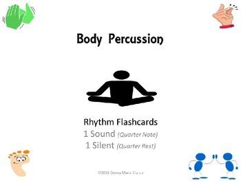 Body Percussion Performance Flashcards: Rhythm: 1 Sound, 1 Silent