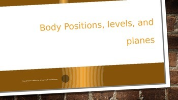 Body Positions, Levels, and Planes