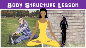 Body Structure No Prep Lesson with Power Point, Worksheet,