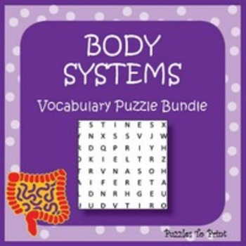 Body Systems Vocabulary Puzzle Bundle