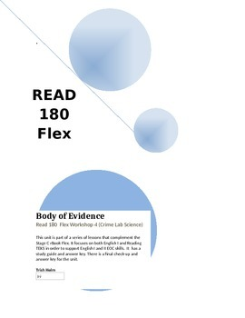Body of Evidence- Read 180 rBook Flex (Workshop 4) English