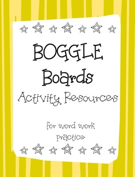 Boggle Activity Sheets- Print Ready- no additional resourc