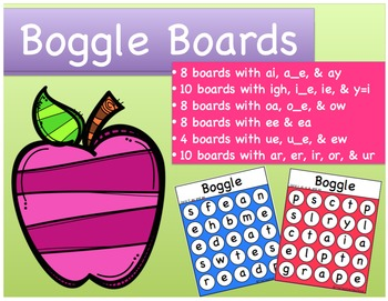 Word Work: Boggle Boards Bundle