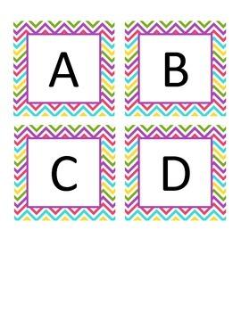 Boggle Letters Bright Chevron