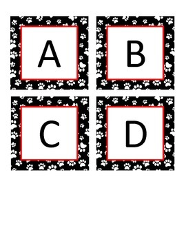 Boggle Letters Dog Puppy Theme Black and White