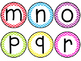 Boggle Letters for the Classroom- Bright Colorful Chevron Theme!
