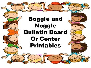 Boggle / Noggle bulletin board or Center game
