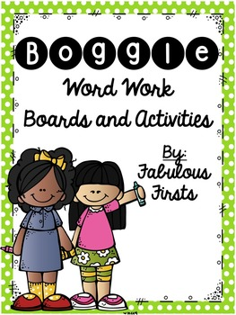 Boggle Themed Word Work Activities