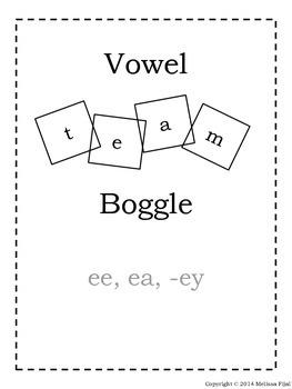 Boggle Vowel Teams ee ea -ey