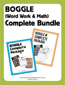 Boggle (Word Work & Math/Number) Complete Mega Bundle (40