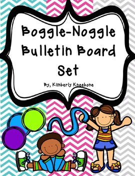 Boggle and Noggle Bulletin Board Set w/ Recording Sheets -