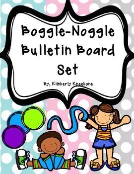 Boggle and Noggle Bulletin Board Set w/ Recording Sheets -