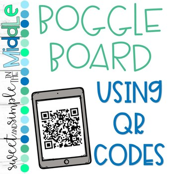 Boggle using QR Codes