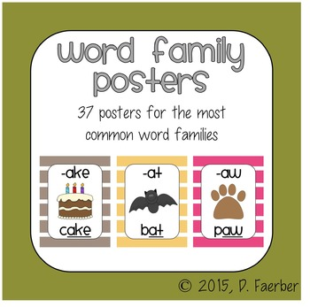 Bohemian Feather Word Family Posters