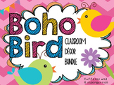 Boho Bird Classroom Decor Bundle