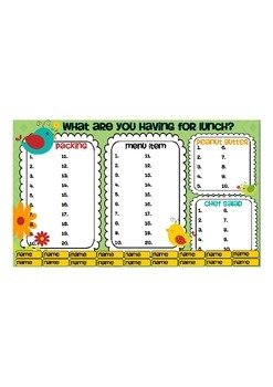 Boho Birds Lunch Count Graph