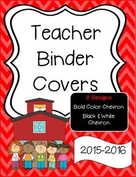 Bold Color Chevron Binder Covers or Dividers - School Theme