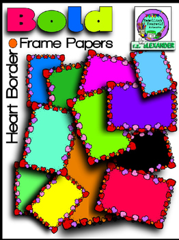 Bold Heart Frame Papers *Bargain Priced* Clipart (Embellis