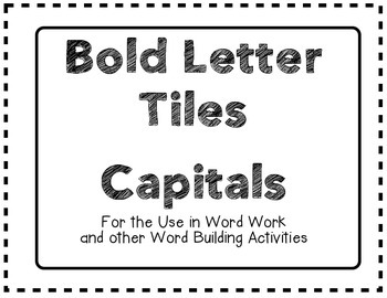 Bold Letter Tiles Capitals