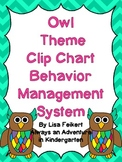 Bold Owls Theme Clip Chart Behavior Management System