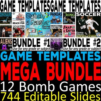 Bomb Game Templates MEGA Bundle