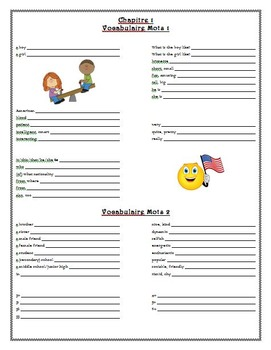 Bon Voyage Chapitre 1 Guided Notes & Study Guide