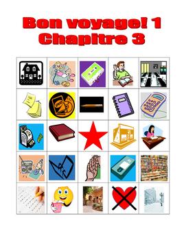 Bon voyage 1 Chapitre 3 Bingo
