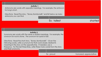 Boney Bombonelli:  A Short Story