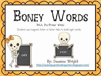Boney Words-pre primer