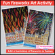 Bonfire Night Fireworks and Flames / Guy Fawkes Art Activity