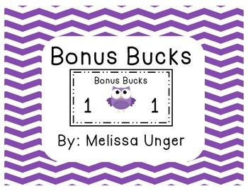 Bonus Bucks - Owl Theme
