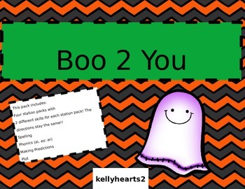 Boo 2 You! October Literacy Station Pack