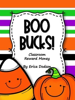 Boo Bucks!  Halloween Themed Classroom Management Reward Money