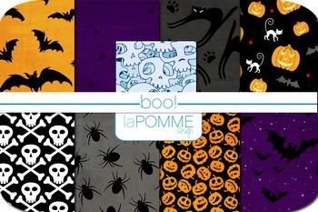 Boo! Halloween October Digital Paper Pack