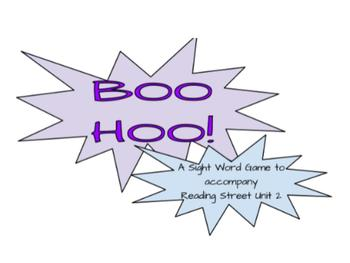 Boo Hoo Sight Word Game- Reading Street All Units (1-6)- C