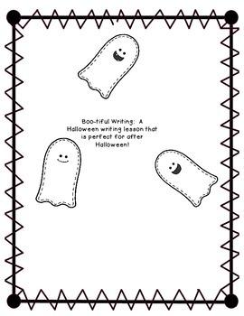 Boo-tiful Writing: A Halloween Personal Narrative