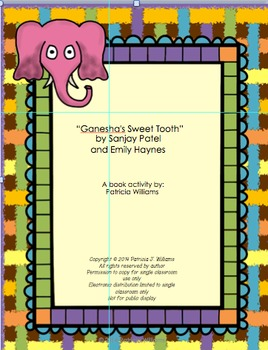 """Book Activities for """"Ganesha's Sweet Tooth"""""""