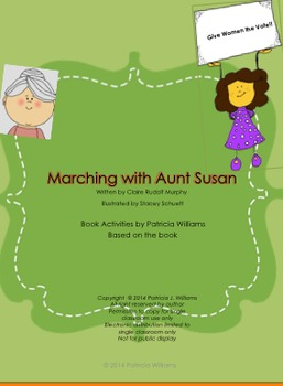 """Book Activities for """"Marching with Aunt Susan"""""""