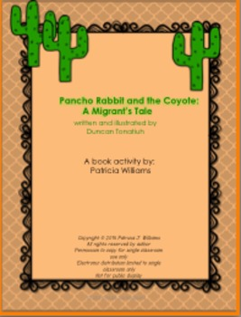 """Book Activities for """"Pancho Rabbit and the Coyote: a Migra"""