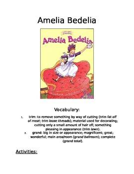 Book Activity: Amelia Bedelia