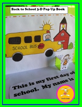Book - Back to School 3-D Pop Up Book