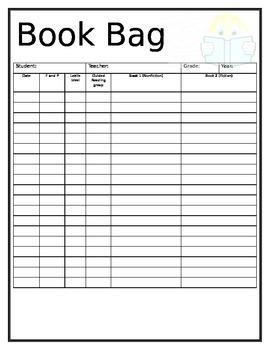 Book Bag template