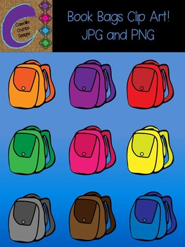 Book Bags  Clip Art Color Images Designs Back Packs