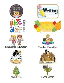 Book Basket Labels for your book bins- 40 Categories