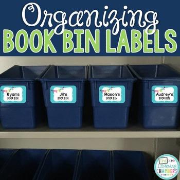 Book Bin Labels: Editable, Bright Patterns, Classroom Decor