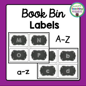 Book Bin Labels: Chalkboard