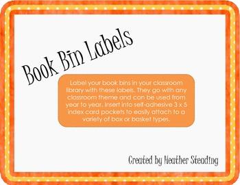 Book Bin Labels {Intermediate Grades}