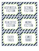 Book Bin Labels - Navy & Lime Green (EDITABLE)