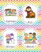 Book Bin Labels {Rainbow Chevron}