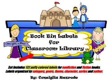 Book Bin Labels for Classroom Library (puffy)